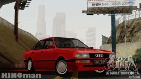 Audi 90 Quattro para GTA San Andreas traseira esquerda vista
