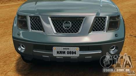 Nissan Frontier DUB v2.0 para GTA 4 vista superior