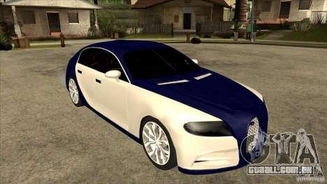 Bugatti Galibier 16c para GTA San Andreas vista direita
