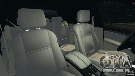 BMW X5 xDrive30i para GTA 4 vista interior