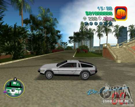 DeLorean DMC 12 para GTA Vice City vista superior