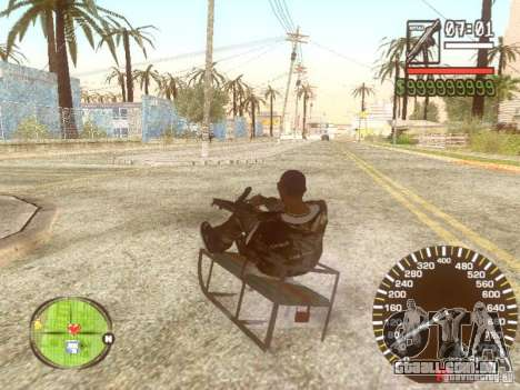 Sani para GTA San Andreas vista inferior