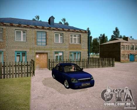Lada Priora Chelsea para GTA San Andreas vista interior