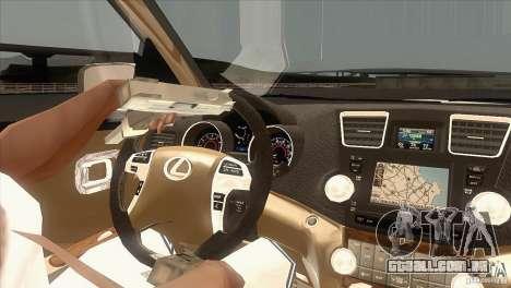 Lexus RX350 para GTA San Andreas vista interior