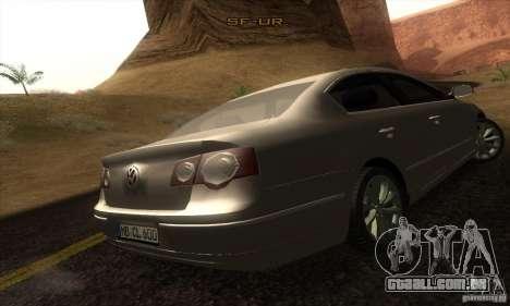 Volkswagen Passat para GTA San Andreas esquerda vista