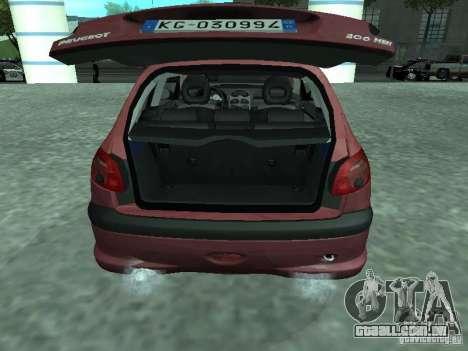 Peugeot 206 HDi 2003 para GTA San Andreas vista traseira