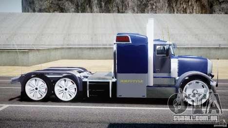 Peterbilt Truck Custom para GTA 4 esquerda vista