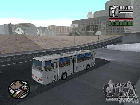 Cidade de Ikarus 266 para GTA San Andreas vista interior