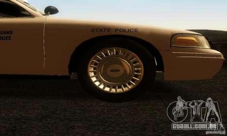 Ford Crown Victoria Rhode Island Police para GTA San Andreas vista direita