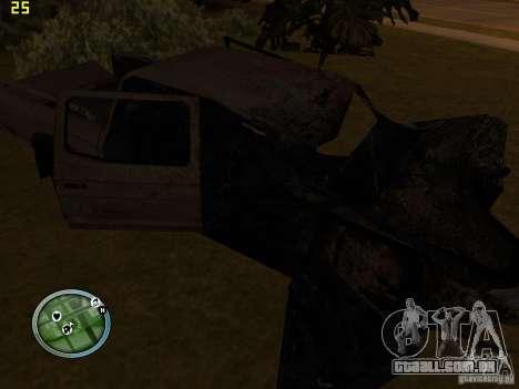 Carros quebrados na Grove Street para GTA San Andreas por diante tela