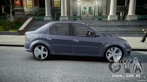 Renault Logan para GTA 4 vista interior