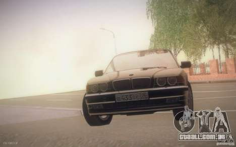 BMW 750i E38 2001 para GTA San Andreas vista interior