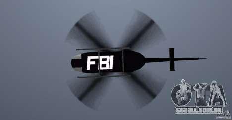 FBI Maverick para GTA Vice City vista interior