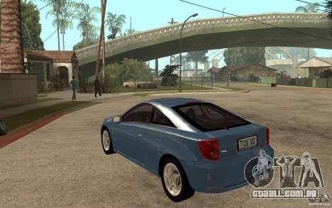 Toyota Celica SS2 para GTA San Andreas traseira esquerda vista