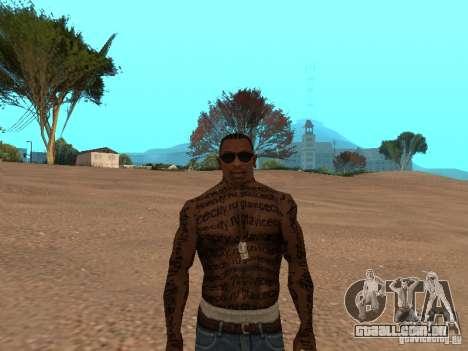 Tattoo Mod by shama123 para GTA San Andreas terceira tela