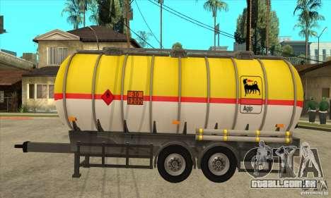 Trailer Tunk para GTA San Andreas esquerda vista
