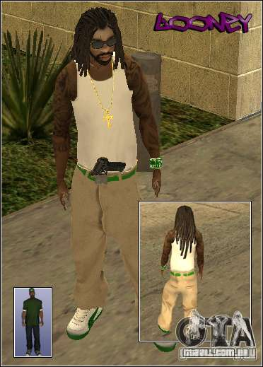 Pele Pack Getto para GTA San Andreas nono tela