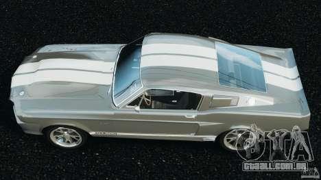 Shelby GT 500 Eleanor v2.0 para GTA 4 vista direita