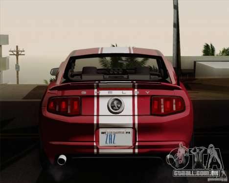 Ford Shelby GT500 Super Snake 2011 para GTA San Andreas vista direita