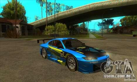 Nissan Silvia S15 - GT para GTA San Andreas vista traseira