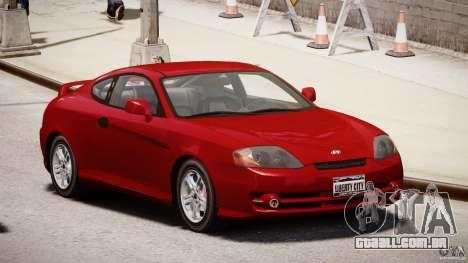 Hyundai Tiburon tunable para GTA 4 vista de volta