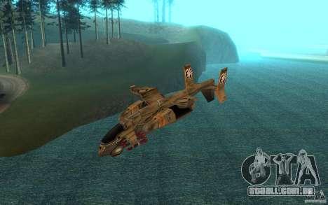 Orca ar comando e Conquer 3 para GTA San Andreas traseira esquerda vista