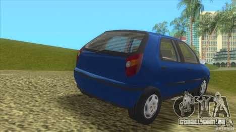 Fiat Palio para GTA Vice City vista traseira esquerda