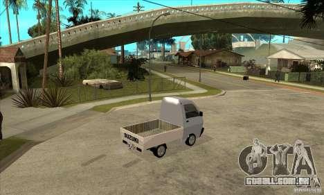 Suzuki Carry Kamyonet para GTA San Andreas vista direita