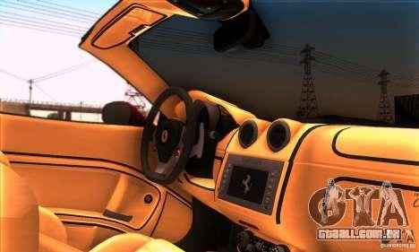 Ferrari California V3 para GTA San Andreas vista superior