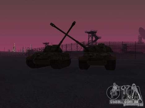 Pzkpfw VII Tiger II para GTA San Andreas vista traseira