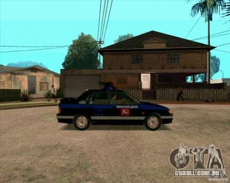 Vaz 2115 DPS para GTA San Andreas traseira esquerda vista