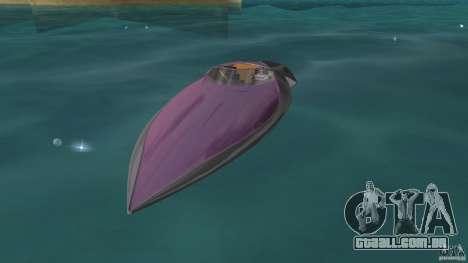 Bugatti Sang Bleu Speedboat para GTA Vice City deixou vista