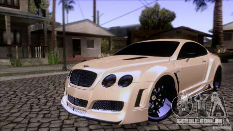 Bentley Continental GT Premier 2008 V2.0 para GTA San Andreas vista superior