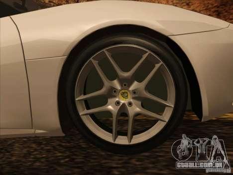 Lotus Evora para GTA San Andreas vista interior