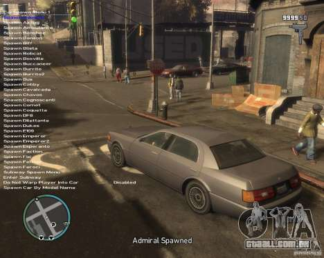Simple Native Trainer v6.4 para GTA 4 terceira tela