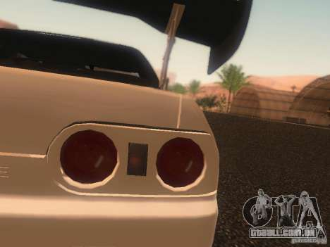 Nissan Skyline GTS R32 JDM para GTA San Andreas vista superior