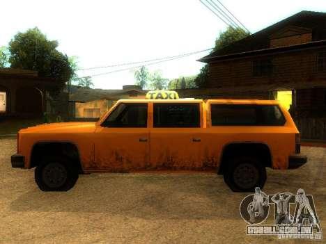 Taxi Rancher para GTA San Andreas esquerda vista