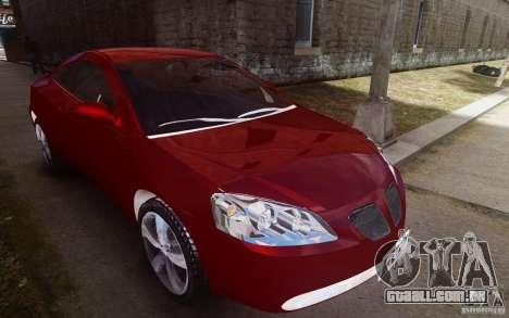 Pontiac G6 para GTA 4 vista lateral