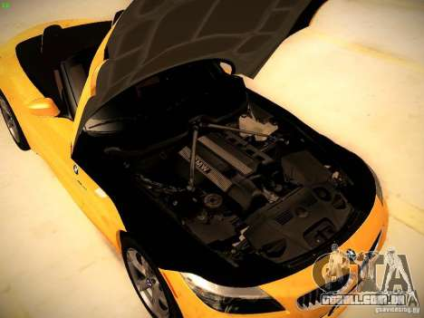 BMW Z4 sDrive28i 2012 para GTA San Andreas vista interior