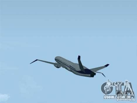 Boeing 737 Iron Man Bussines Jet para GTA San Andreas esquerda vista
