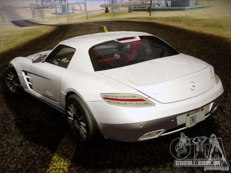 Mercedes-Benz SLS AMG para GTA San Andreas vista interior