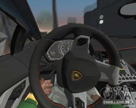 Lamborghini Aventador LP700-4 Police para GTA San Andreas esquerda vista
