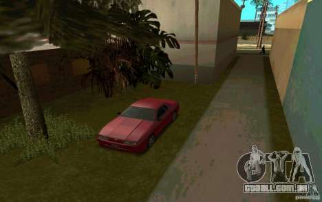 Carros esporte perto de Grove Street para GTA San Andreas por diante tela