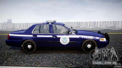 Ford Crown Victoria Homeland Security [ELS] para GTA 4 vista interior