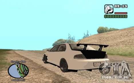Mitsubishi Lancer Evolution 8 Carbon para GTA San Andreas vista direita