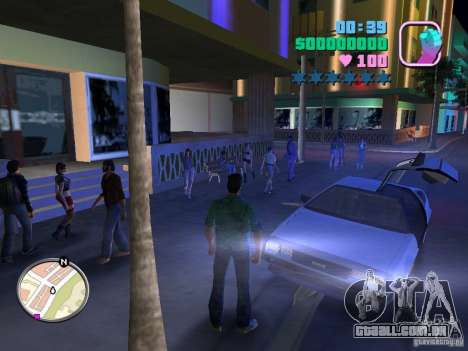 Delorean DMC-12 para GTA Vice City deixou vista