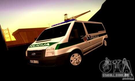 Ford Transit Policija para GTA San Andreas vista superior