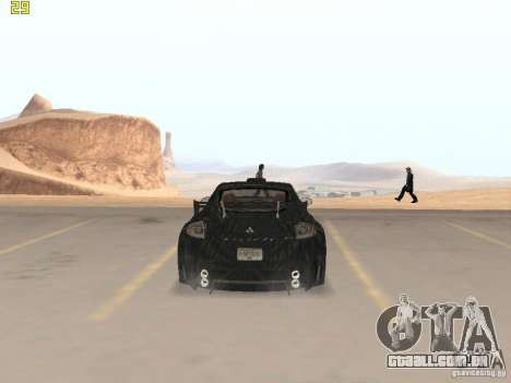 Mitsubishi Eclipse GT NFS-MW para GTA San Andreas traseira esquerda vista