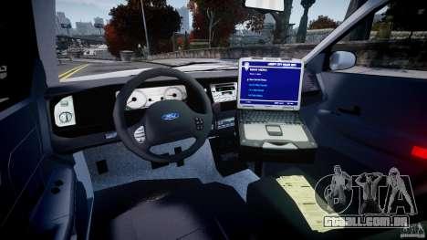 Ford Crown Victoria Croatian Police Unit para GTA 4 vista de volta