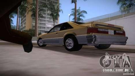 Ford Mustang GT 1993 para GTA Vice City vista lateral